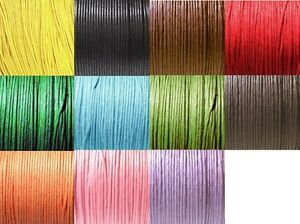 10-Metres-0-7mm-1mm-Waxed-Cotton-Cord-11-Colours-Macrame-Shamballa