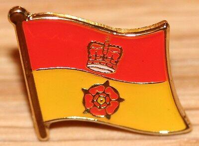 Hampshire England County Flag Enamel Pin Badge UK Great Britain