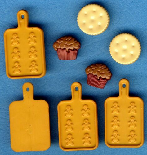 CUPCAKE COOKIE GINGERBREAD BAKING TRAYS Muffins Biscuits Chef Cook Button Charms