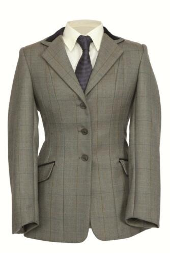 All Sizes Shires Childs Huntingdon Tweed Riding Hacking Jacket Showing