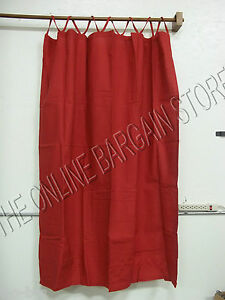 1 pottery barn tri top linen window curtains drapes panels cranberry red 54x63 ebay. Black Bedroom Furniture Sets. Home Design Ideas