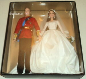Mattel-William-and-Kate-Royal-Wedding-Giftset-Barbie-2012-Gold-Label-LE