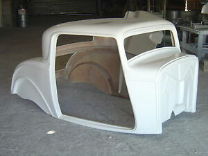 1932 ford 3 window coupe fiberglass complete body kit ebay for 1932 ford 5 window fiberglass body