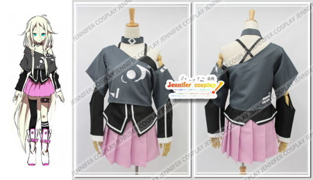 Vocaloid 3 IA Cosplay Costume + Socks