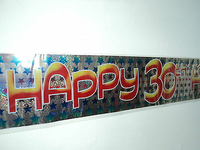 30th Birthday Party Banner 2.6m or 9ft long - Can be mader into 3 small banners