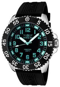 Invicta-Watch-1099-Men-039-s-Pro-Diver-Black-Dial-Black-Polyurethane