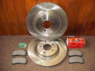 JAGUAR XK8-XKR 'R' PERFORMANCE FRONT DISCS AND PADS C2N3427