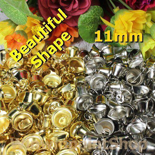 """Lot 25 50 100 Pcs Beautiful Shape Gold Silver Jingle Bell Xmas Size 11mm (7/16"""")"""