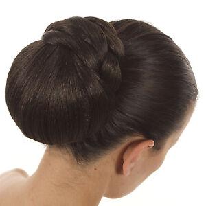 Clip-In-Glamour-Hair-Bun-Hair-Extension-Braided-Wedding-Style-Natural-Shades