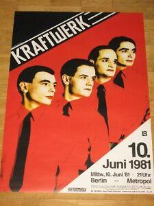 KRAFTWERK-VINTAGE-CONCERT-POSTER-1981-BERLIN-METROPOL-034-MENSCH-MASCHINE-034-ORIGINAL
