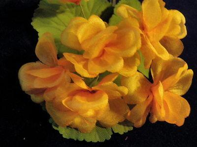 "Vintage Millinery Flower 1 1/2"" Soft Melon Orange Lot of 6 = 1 Geranium KR7"