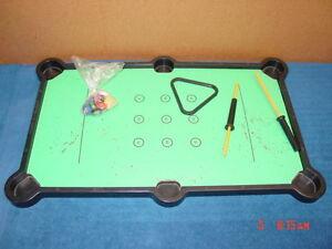 Image Is Loading Vintage Game Magnetel Mattel Pool Table Kids Billiard