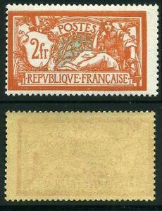 FRANCE-STAMP-TIMBRE-N-145-034-TYPE-MERSON-2-F-ORANGE-VERT-BLEU-034-NEUF-xx-TB