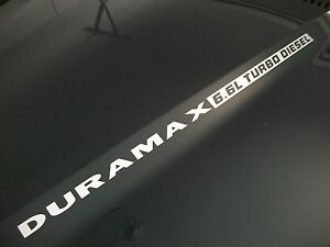 L DURAMAX TURBO DIESEL Hood Decals Chevy Silverado HD - Chevy duramax diesel decals