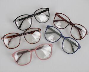 NEW-SIMPLE-CLEAR-LENS-UNISEX-VINTAGE-FRAMES-BIG-GLASSES-EYEGLASSES-BLACK-etc