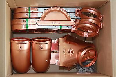 Dachrinnen Zubehör-Set, 30 Teile, für Kupfer Entwässerungssystem
