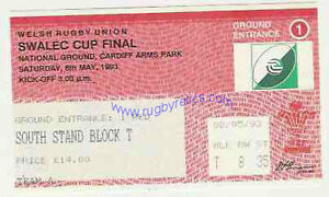 LLANELLI-v-NEATH-8-MAY-1993-WELSH-CUP-FINAL-RUGBY-TICKET