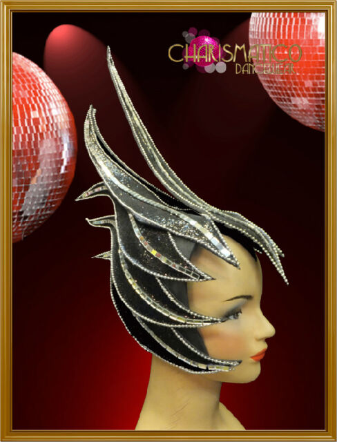 Charismatico Gorgeous black fairy spiny FANCY DRAG QUEEN DIVA Headdress