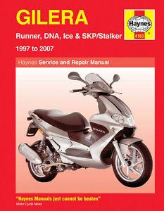 Gilera-Runner-Scooters-DNA50-DNA125-SKP50-ICE50-1997-2007Haynes-Manual-4163-NEW