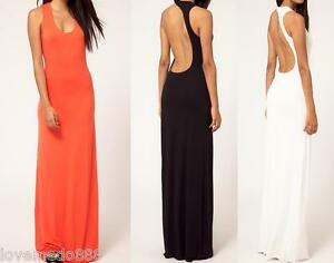 new-womens-sexy-cocktail-party-evening-club-wear-open-back-Long-Dress-S-M-L-XL