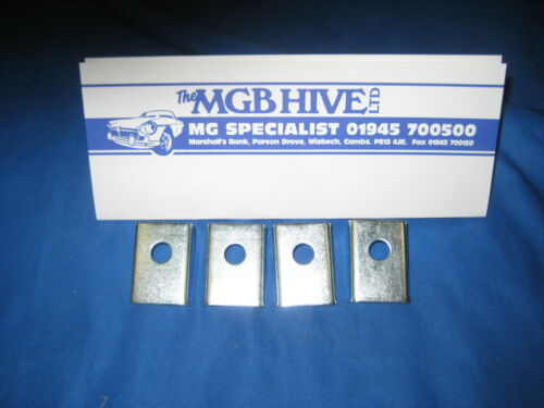 MG SET OF 4 MGB ROADSTER //GT FRONT OR REAR BUMPER D SHAPE SPACER AHH6216 ***EB83