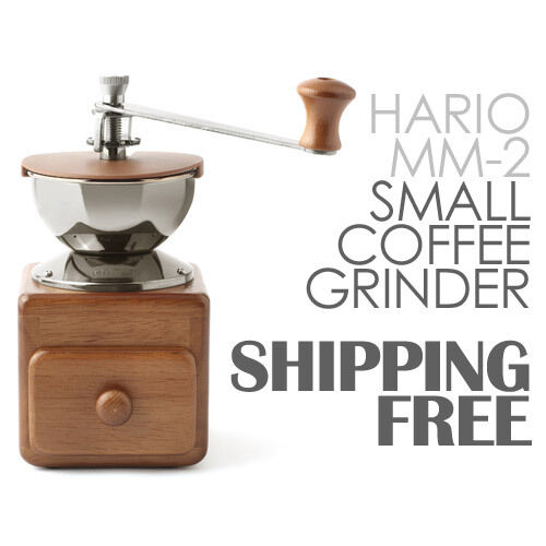 Hario SMALL Coffee Grinder MM-2 Ceramic Burr Coffee Mill Hand Mill
