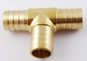 """1pc Brass Barb T Fitting 3/4"""" ID Hose Air Fuel Boat MettleAir 123-12"""