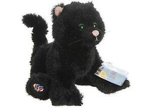 HM135-Webkinz-Black-Halloween-Cat-Plush-w-Sealed-Code-8-034-NEW