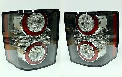Range Rover Black Trim LED Rear Tail Light Set Pair Genuine Land Rover New