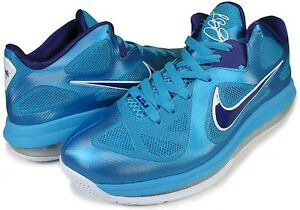 Mens-Nike-Lebron-9-Low-Summit-Lake-Hornets-Turquoise-Purple-510811-400-Size-8-13