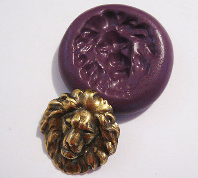 Lion head Flexible Silicone Push Mold mould Polymer clay Resin Miniature Food