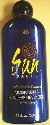 Sun Sauce Sunless Self Tanner w/ Bronzer & Bronzing Hemp - NO TANNING NEEDED