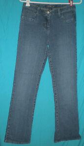 Baccini-Straight-Leg-Low-Rise-Stretch-Blue-Jeans-Sz-4-W-28-H-34-R-8-1-2-I-30-1-2