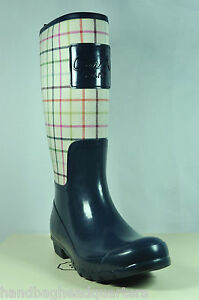 NEW-COACH-PEARL-TATTERSAL-RAIN-BOOTS-SHOES-8-RUBBER-7314-BOOTS-39-RAINBOOTS