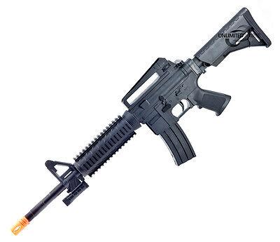NEW M4 A1 M16 TACTICAL ASSAULT SPRING AIRSOFT RIFLE PELLET SNIPER GUN 6mm BB AIR