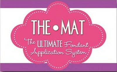 The HOME MAT Ultimate Fondant Application System 22 x 22 inch cake decorating