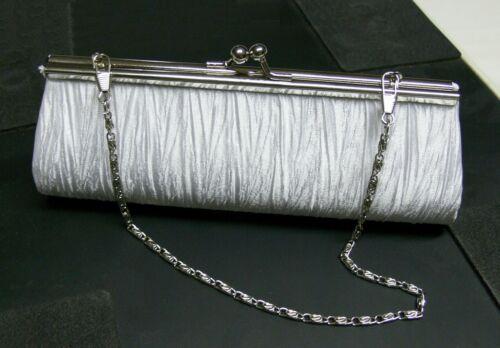 New Elegant Satin Pleated Bridal/Evening Clutch Handbag