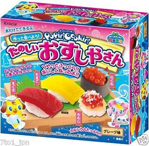 KRACIE Popin Cookin CANDY Gummy SUSHI KIT DIY Happy kitchen for ...
