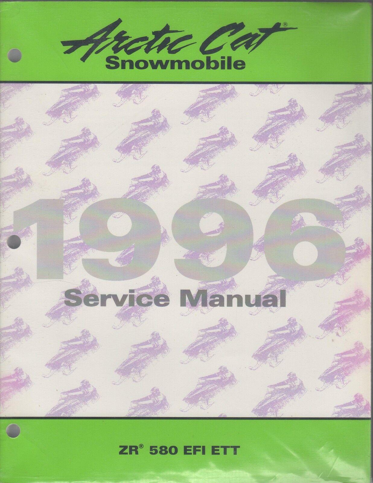 1996  ARCTIC CAT SNOWMOBILE ZR 580 EFI ETT SERVICE MANUAL PN 2255-438