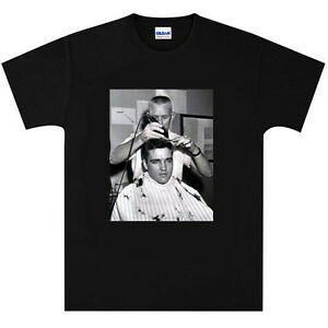 Elvis-Presley-Army-Barber-Shop-Haircut-T-Shirt-New-Black-or-White
