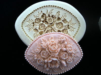 Special Rose #1, Silicone Mold Chocolate Polymer Clay Jewelry Soap Wax Resin