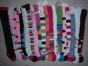 Baby-Girls-Cotton-Knitted-Footed-Tights-NEW-3-6-9-12-18-24-2T-3T-Boho-Flowers