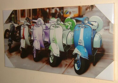 STUNNING RETRO MODS VESPA SCOOTER CANVAS WALL ART PICTURE PRINT BRAND NEW