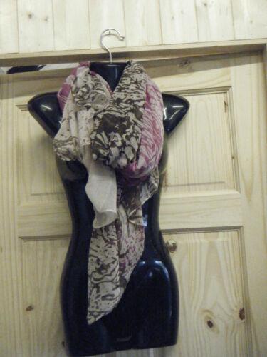 LARGE PINK BEIGE BROWN ANIMAL LEOPARD PRINT LADIES SCARF WRAP SHAWL UK SELLER