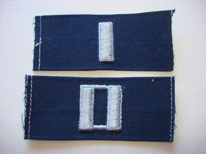 Group-Of-2-US-Navy-Collar-Patches-Lieutenant-Junior-Grade-Lieutenant-Rank