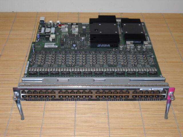 Cisco WS-X6148A-GE-45AF Catalyst 6500 48x GIGABIT with 802.3af PoE WS-F6K-48-AF