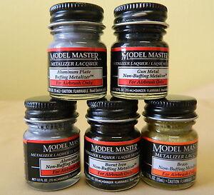 Testors-Model-Master-1-2-oz-5oz-Jar-Buffing-Non-Buffing-Metalizer-Paint