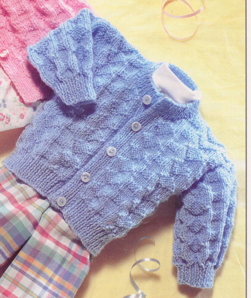 Vintage Baby Matinee Coat Amp Cardigan Dk Knitting Pattern