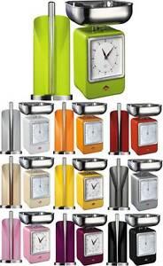 Wesco-Bascula-de-cocina-con-Reloj-amp-Soporte-Papel-de-cocina