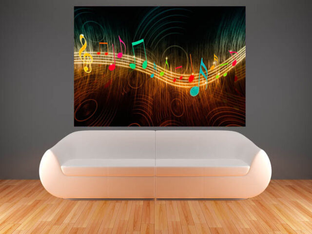 A0 MUSIC NOTES  LARGE IMAGE  GIANT POSTER ART